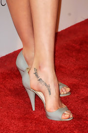 "That lettering tattoo on Lily Cole's foot made us go ""Ouch!"""