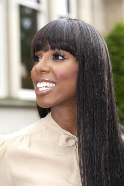 More Pics of Kelly Rowland Long Straight Cut with Bangs (2 of 11) - Kelly Rowland Lookbook - StyleBistro []