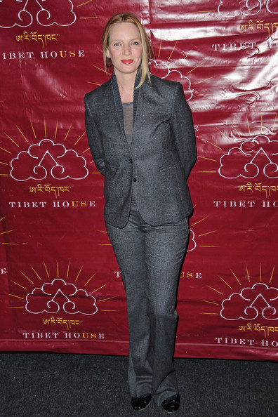 More Pics of Uma Thurman Pantsuit (5 of 18) - Uma Thurman Lookbook - StyleBistro