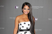 Christina Milian at The Cosmopolitan Grand Opening and New Year's Eve Celebration with Jay-Z and Coldplay at Marquee Nightclub in The Cosmopolitan hotel.