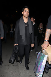 Wilmer Valderrama arrived at Geisha House for his birthday bash with a nice comfy scarf around his neck.