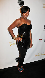 Tichina Arnold rocked a sequined black corset top at the 'Laugh at My Pain' premiere.