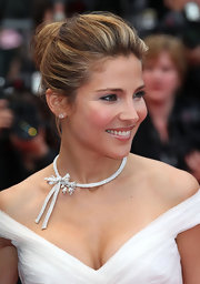 Actress Elsa Pataky showed off her classic bun while hitting the Cannes Film Festival.