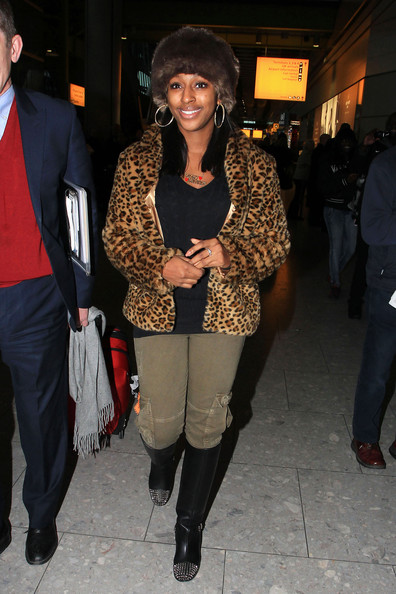More Pics of Alexandra Burke Knee High Boots (3 of 7) - Alexandra Burke Lookbook - StyleBistro