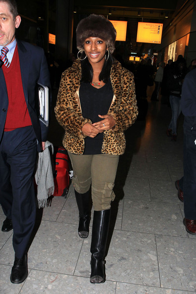 More Pics of Alexandra Burke Knee High Boots (4 of 7) - Alexandra Burke Lookbook - StyleBistro