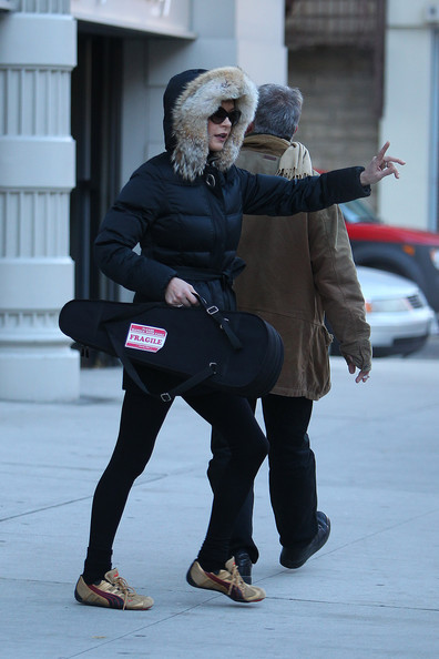 Catherine stayed casual in NYC in a pair of well-loved Puma sneakers.