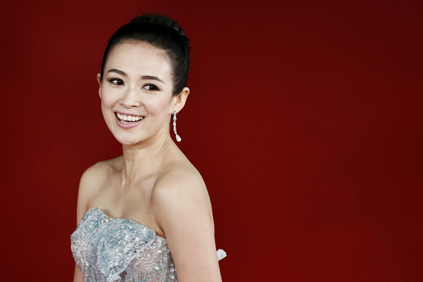 Zhang Ziyi Dangling Crystal Earrings