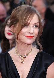 Isabelle Huppert was glam in a loose updo at the screening of 'The Tree of Life.'