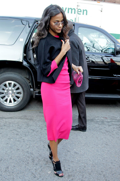 More Pics of Zoe Saldana Printed Clutch (2 of 5) - Clutches Lookbook - StyleBistro