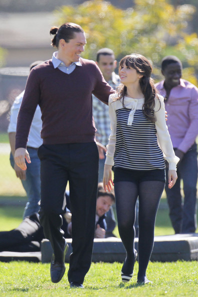 Zooey Deschanel Yoga Pants