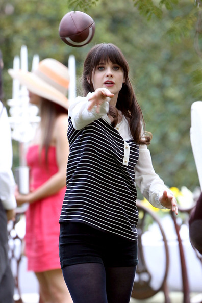 More Pics of Zooey Deschanel Loose Blouse (1 of 53) - Tops Lookbook - StyleBistro