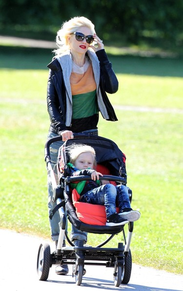 Gwen Stefani and Famiy at the Park