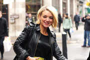 A fresh-faced Sheridan Smith leaves the BBC Radio One studios in London. The West End actress had been on Gemma Cairney's radio show and later tweeted,