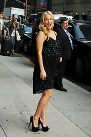 Kate sparkled in her little maternity dress for her appearance on the 'Late Show with David Letterman.'