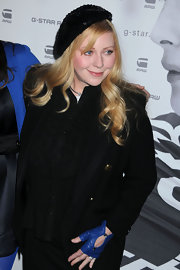 Bebe Buell wore a sequined beret to the G-Star Raw runway show.