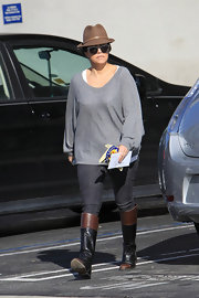 Kourtney K topped off her casual look with a fedora while out in LA.