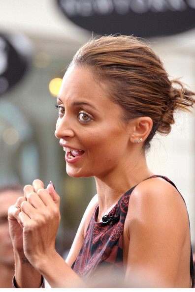 More Pics of Nicole Richie Twisted Bun (1 of 30) - Hair Lookbook - StyleBistro