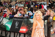 Mollie King at the UK premiere  of  'Harry Potter And The Deathly Hallows: Part 2' at Trafalgar Square in London.