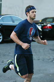 Justin Timberlake was spotted on a run in Tribeca wearing a neon pair of Nike's