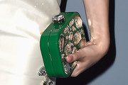 Dakota Fanning Gemstone Inlaid Clutch