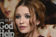 Emily Browning Messy Updo