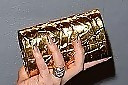Fergie Metallic Clutch