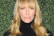 Toni Collette Long Wavy Cut with Bangs
