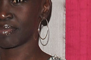 Alek Wek Gold Hoops