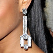 Alesha Dixon Jewelry - Dangling Diamond Earrings
