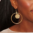 Alexandra Burke Gold Dangle Earrings