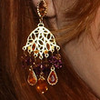 Alyson Hannigan Gemstone Chandelier Earrings