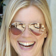 Amy Smart Aviator Sunglasses