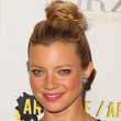 Amy Smart Loose Bun