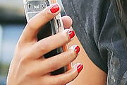 Angela Simmons Red Nail Polish