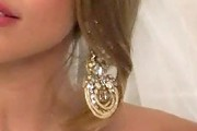 AnnaLynne McCord Gold Chandelier Earrings