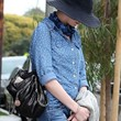Anne Hathaway Clothes - Button Down Shirt