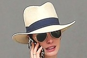 Anne Hathaway Casual Hats