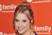 Ashley Benson Sports a Messy Updo to ABC's Upfront Presentation