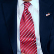Barack Obama Striped Tie