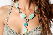 Bianca Balti Turquoise Necklace