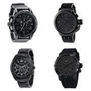 Black Chronograph Watches for Men