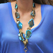 Blake Lively Gemstone Statement Necklace