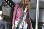 Blake Lively Leather Jacket