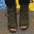 Bridgit Mendler Lace Up Boots