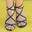 Bridgit Mendler Strappy Sandals