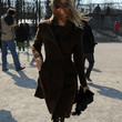 Carine Roitfeld Clothes - Wool Coat