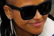 Cassie Ventura Dangling Diamond Earrings
