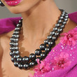 Chanel Iman Black Pearls