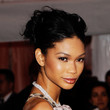 Chanel Iman Messy Updo