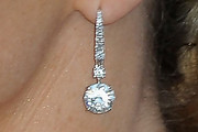 Charlene Wittstock Dangling Diamond Earrings